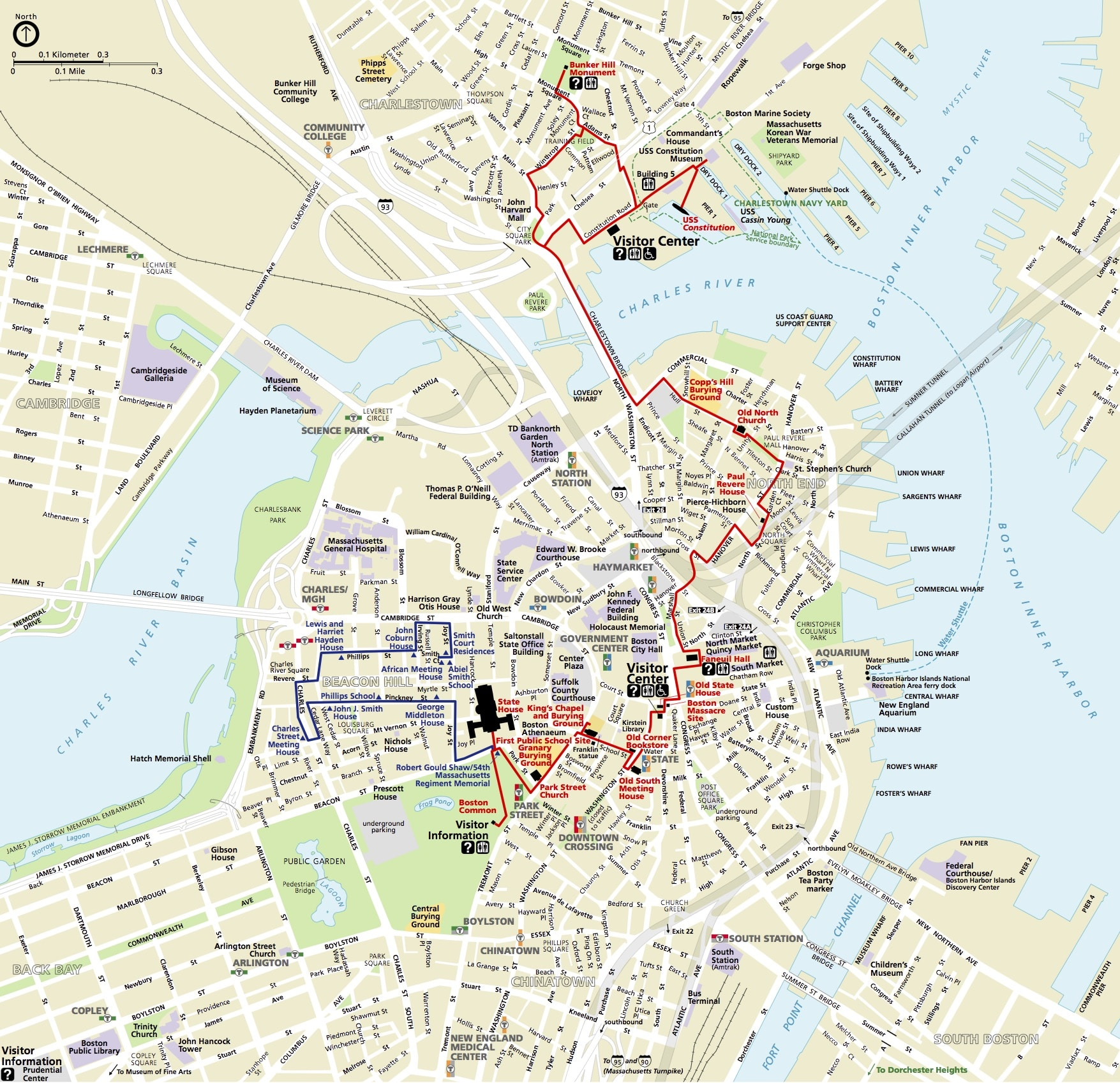 Boston Freedom Trail Itineraire Se Rendre De New York A