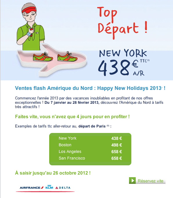 promotion Air France