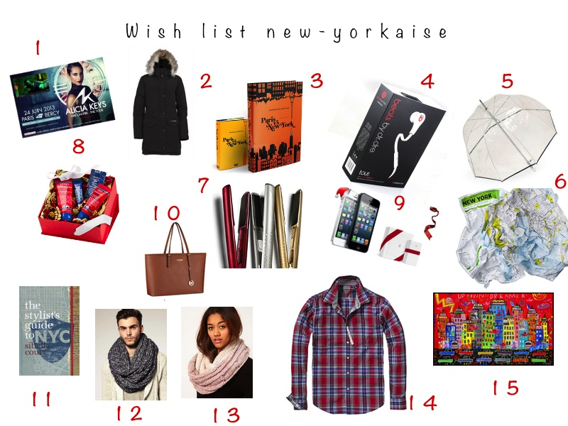 New York Wish List Noël Blog