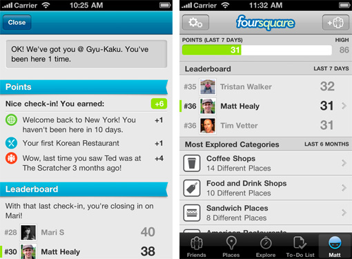 foursquare 3 applications iPhone pour New York