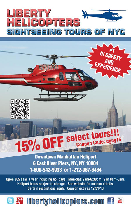 LIBERTY HELICOPTER VOUCHER DISCOUNT
