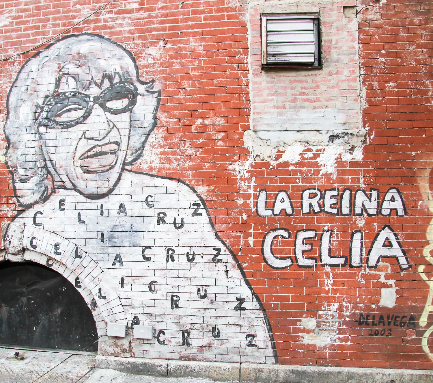 street-art-la-reina-celia-east-harlem-new-york East Harlem ou Spanish Harlem, le New York Latino