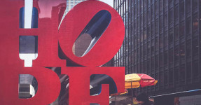 hope sculpture new york robert indiana