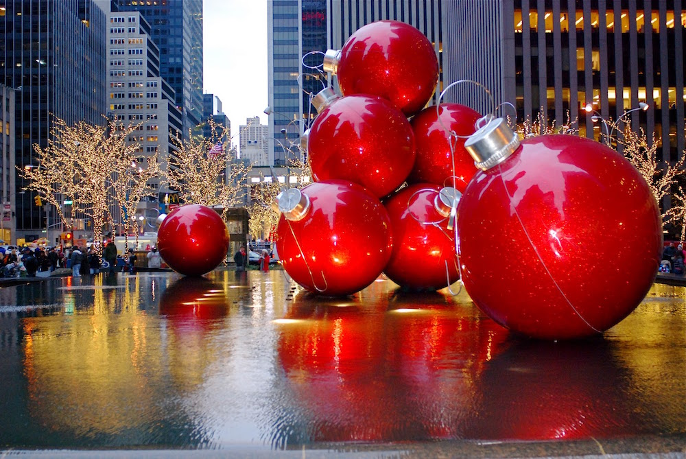 Decorations de noel a new york