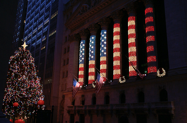 wall-street-new-york-noel Christmas in New York, a source of inspiration #7
