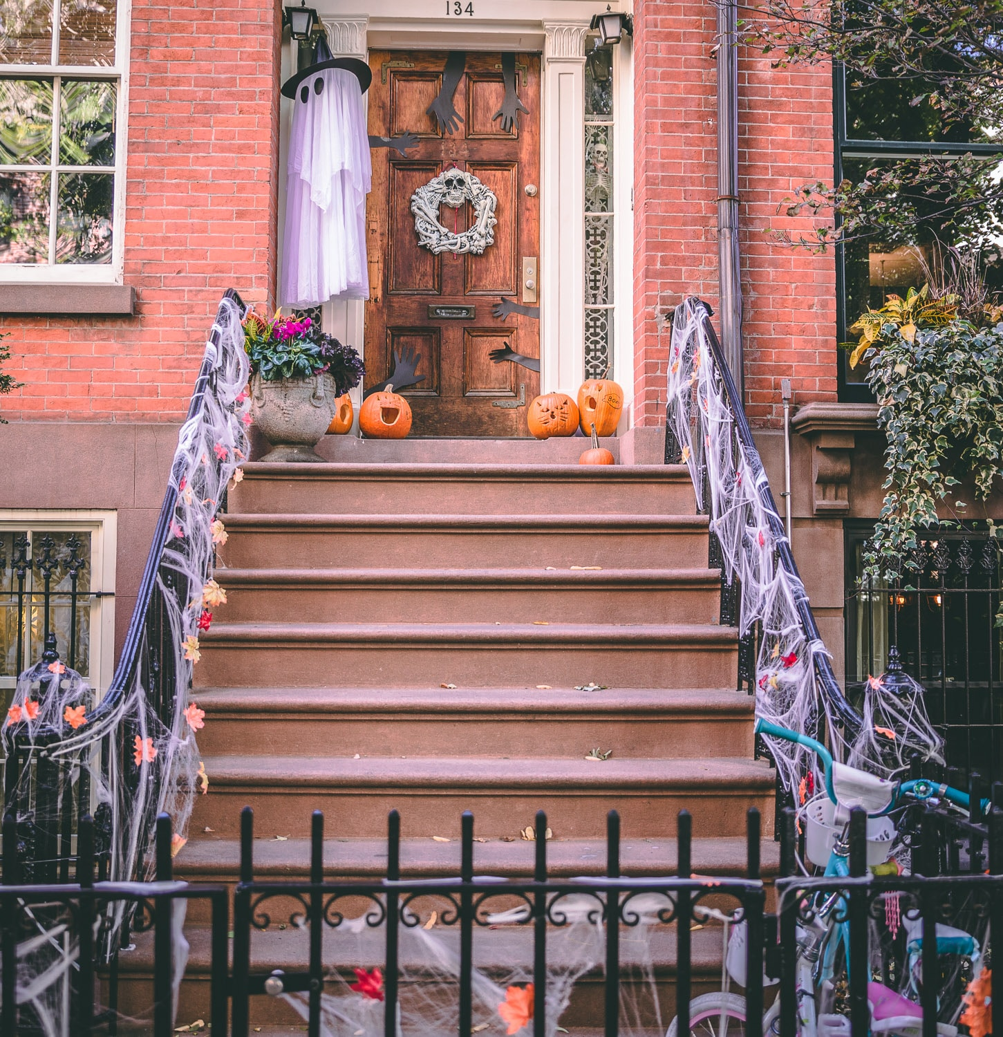 decoration-halloween-new-york-greenwich-village-manhattan Les décorations Halloween à New York, j'adore !