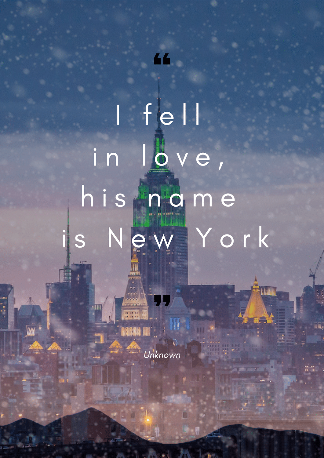 i-fell-in-love-his-name-is-new-york Citation de New York - Mes favorites